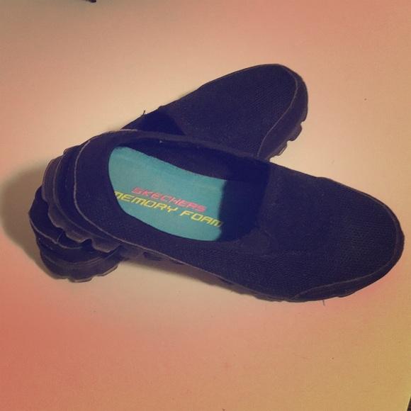 Skechers Shoes Black Memory Foam Womens Sz 8 Poshmark